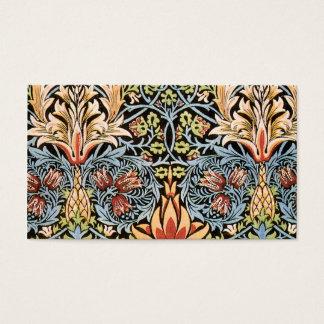 William Morris Snakeshead Design Business Card