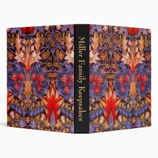 William Morris Snakeshead Vintage Floral 3 Ring Binder
