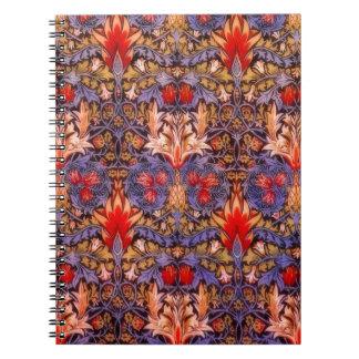 William Morris Snakeshead Vintage Floral Spiral Notebook
