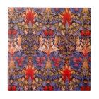 William Morris Snakeshead Vintage Floral Tile