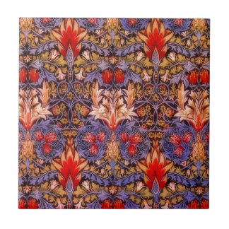 William Morris Snakeshead Vintage Floral Tile