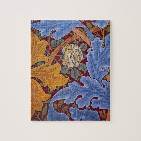 William Morris St. James Vintage Floral Design Jigsaw Puzzle