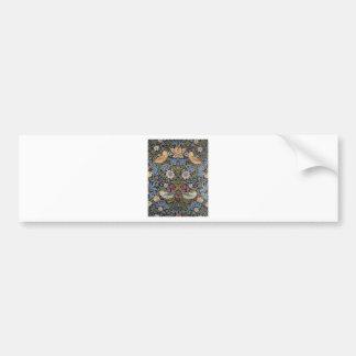 William Morris Strawberry Thief Design 1883 Bumper Sticker