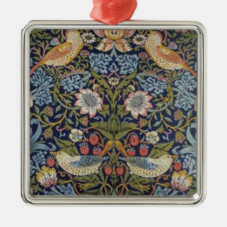 William Morris Strawberry Thief Design 1883 Metal Ornament
