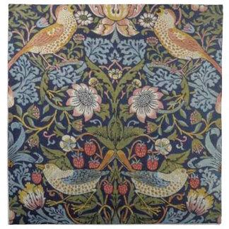 William Morris Strawberry Thief Design 1883 Napkin
