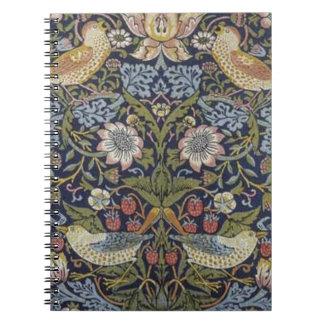 William Morris Strawberry Thief Design 1883 Notebooks