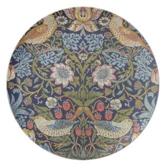 William Morris Strawberry Thief Design 1883 Plate