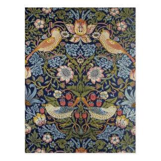 William Morris Strawberry Thief Design 1883 Postcard