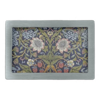 William Morris Strawberry Thief Design 1883 Rectangular Belt Buckles