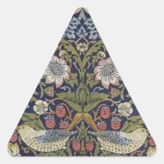 William Morris Strawberry Thief Design 1883 Triangle Sticker
