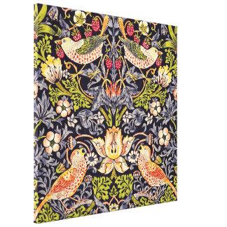 William Morris Strawberry Thief Floral Art Nouveau Canvas Print