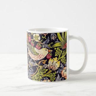 William Morris Strawberry Thief Floral Art Nouveau Coffee Mug