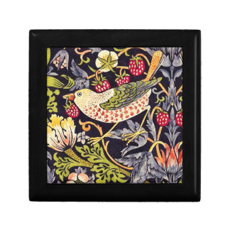 William Morris Strawberry Thief Floral Art Nouveau Gift Box