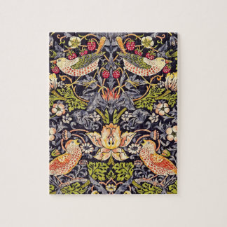 William Morris Strawberry Thief Floral Art Nouveau Jigsaw Puzzle