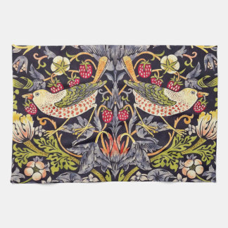 William Morris Strawberry Thief Floral Art Nouveau Kitchen Towel