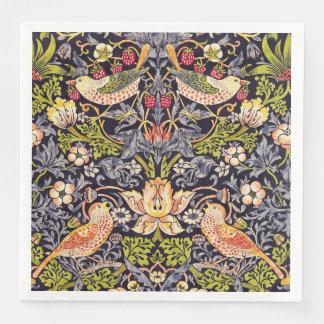 William Morris Strawberry Thief Floral Art Nouveau Paper Dinner Napkin