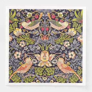 William Morris Strawberry Thief Floral Art Nouveau Paper Napkin