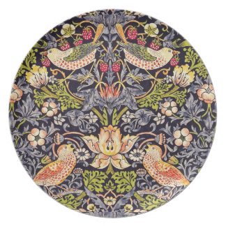 William Morris Strawberry Thief Floral Art Nouveau Plate