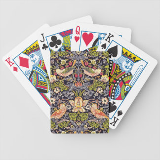 William Morris Strawberry Thief Floral Art Nouveau Poker Deck