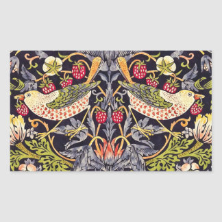 William Morris Strawberry Thief Floral Art Nouveau Sticker