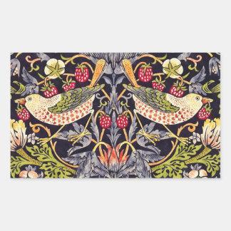 William Morris Strawberry Thief Floral Art Nouveau Sticker