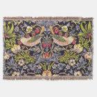 William Morris Strawberry Thief Floral Art Nouveau Throw Blanket