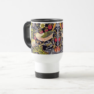 William Morris Strawberry Thief Floral Art Nouveau Travel Mug