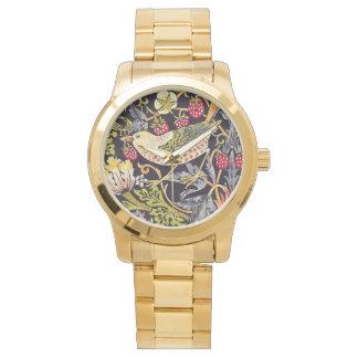 William Morris Strawberry Thief Floral Art Nouveau Watch