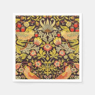 William Morris Strawberry Thief Pattern Disposable Napkin