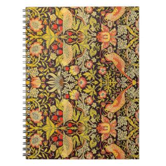 William Morris Strawberry Thief Pattern Notebooks