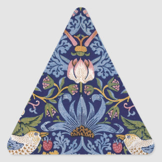 William Morris Strawberry Thief Triangle Sticker