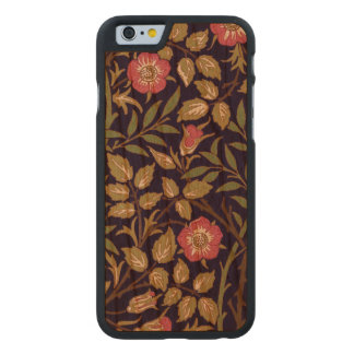 William Morris Sweet Briar Floral Art Nouveau Carved Cherry iPhone 6 Case