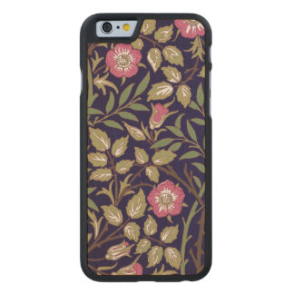 William Morris Sweet Briar Floral Art Nouveau Carved Maple iPhone 6 Case