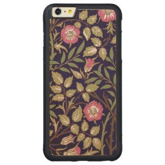 William Morris Sweet Briar Floral Art Nouveau Carved Maple iPhone 6 Plus Bumper Case