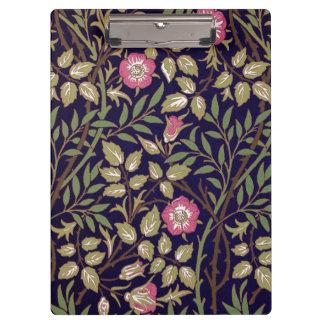 William Morris Sweet Briar Floral Art Nouveau Clipboard