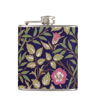 William Morris Sweet Briar Floral Art Nouveau Hip Flask