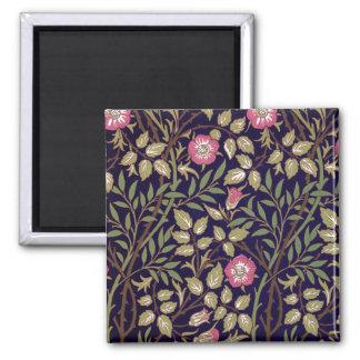 William Morris Sweet Briar Floral Art Nouveau Square Magnet