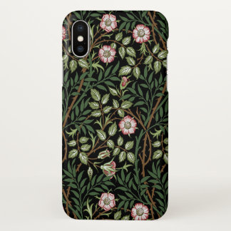 William Morris Sweet Briar Vintage Floral Pattern iPhone X Case