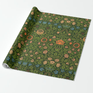 William Morris Tapestry Rug Red Green Carpet Asian Wrapping Paper