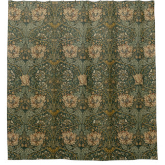 William Morris: The Honeysuckle Shower Curtain