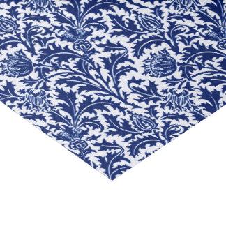 William Morris Thistle Damask, Cobalt Blue & White Tissue Paper
