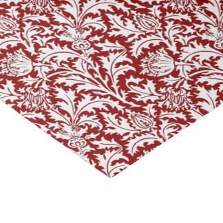 William Morris Thistle Damask, Dark Red & White Tissue Paper