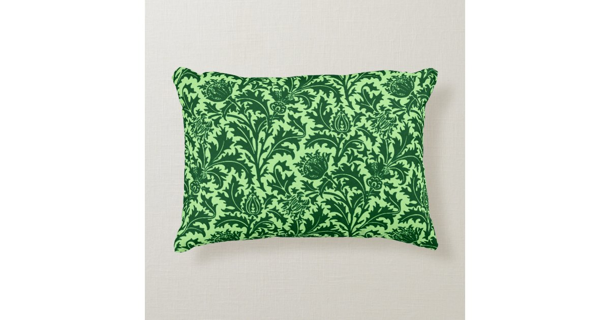 damask accents in green - photo #30