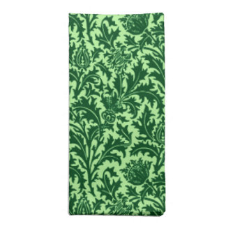 William Morris Thistle Damask, Emerald Green Napkin