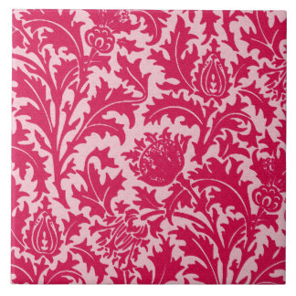 William Morris Thistle Damask, Fuchsia Pink Tile
