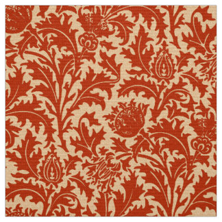 William Morris Thistle Damask, Mandarin Orange Fabric