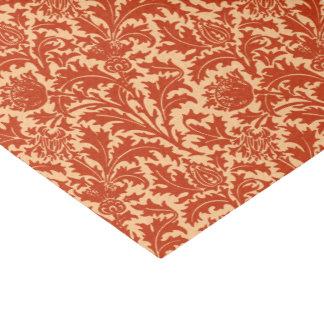 William Morris Thistle Damask, Mandarin Orange Tissue Paper