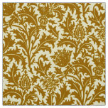 William Morris Thistle Damask, Mustard Gold Fabric