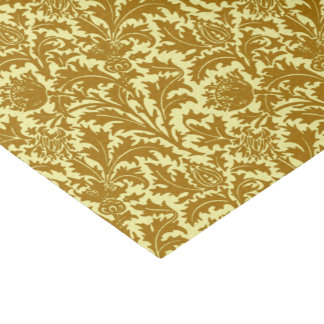 William Morris Thistle Damask, Mustard Gold Tissue Paper