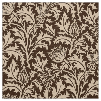 William Morris Thistle Damask, Taupe Tan & Beige Fabric